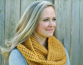 Cool Weather Infinity Scarf in Golden Rod Yellow- Other colors available