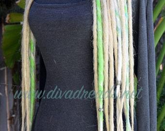 Dread Lock falls in Blonde & green
