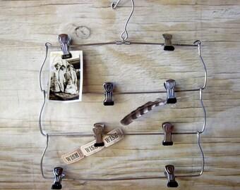 Up Cycled Memory Board-Hanger Vintage Hanger