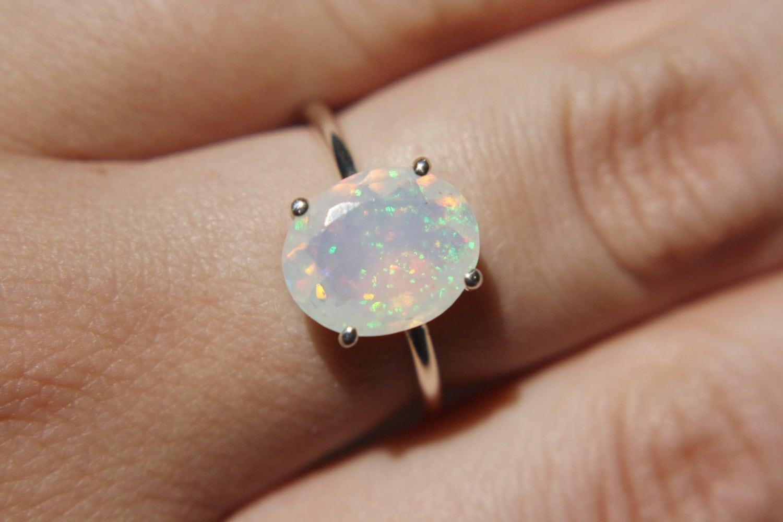 Resultado de imagen para simple opal rings