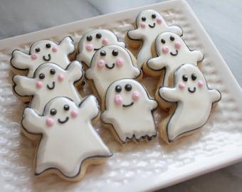 A Dozen Happy Ghost Cookies