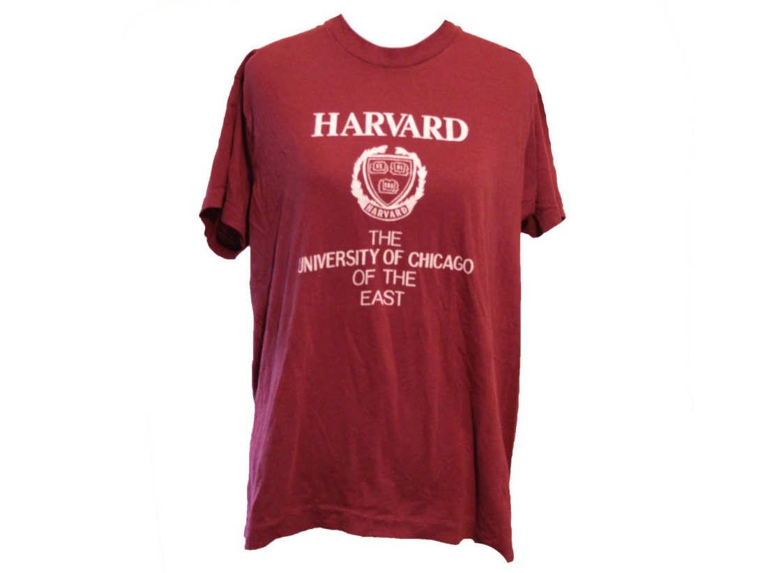 university of chicago funny 80s t shirt harvard the u