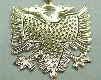 albanian eagle, 1'' size .14k solid gold .no chain