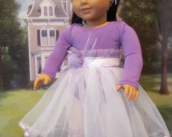 Halloween Costume, Ballerina Costume, Tutu, 18 inch Doll Clothes