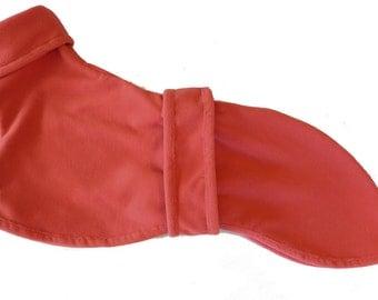 Trilium (Orange/Salmon) Fleece Dog Coat for a Whippet or Similar Dog [117]