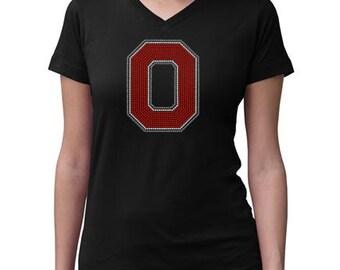 CHILD or ADULT SIZE  Ohio State Buckeyes Bling Crystal Rhinestone Shirt