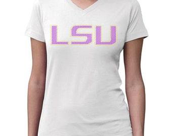 Child or Adult  LSU TigersBling Crystal Rhinestone Shirt