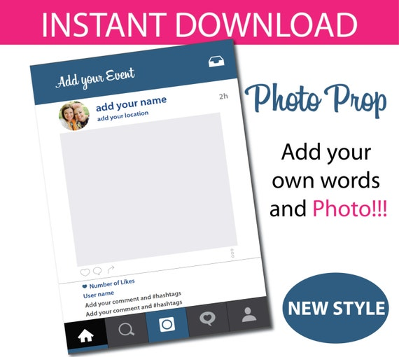 Photo Prop Frame - Instant download by CreativeLittleParties | Catch ...