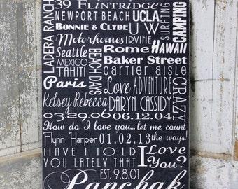 Subway Wall Art Sign, Personalized Subway Wall Art Sign, Personalized Family Name Sign, Subway Art,  Wedding Sign, Vintage Sign, Hughes