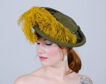 1930s vintage hat / tilt hat / Quite Contrary