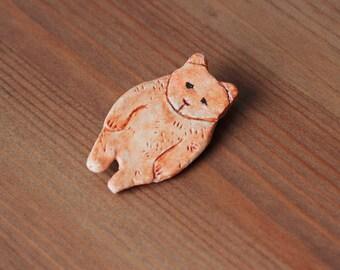 Bear Clay Pin Brooch