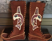 Orca Totem Moccasins