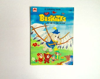 1980s the Biskitts coloring book / biskitts cartoon / fly me to the goon / unused