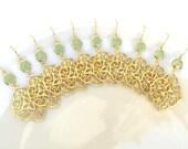 10% OFF SET of 5 Wedding Jewelry Bridesmaid Jewelry Bridesmaid Earrings Bridal Earrings Mint Earrings.Mint Green Seafoam Gold Earrings Gift