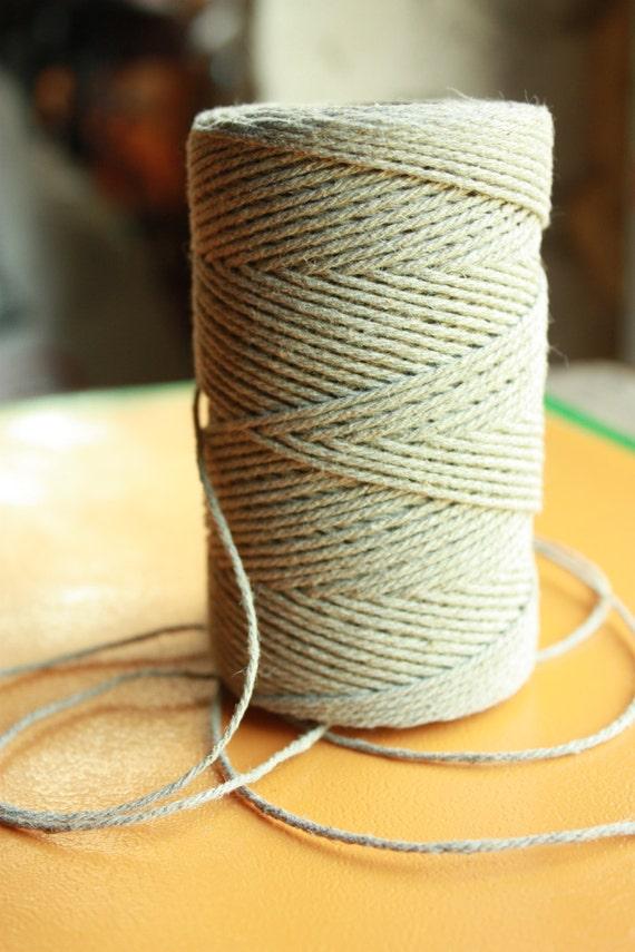 mm Elegant Linen Yarn - Natural Color - 1 Spool = 110 Yards = 100 ...
