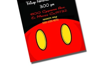 Printable Mickey Mouse Birthday Party Invitation