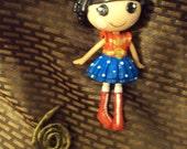 Wonder Woman mini lalaloopsy doll custom ooak repaint comic book cartoon superhero girl