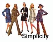 60s Dress or Tunic & Pants Size 16 Bust 38 UNCUT 1960s Sewing Pattern Simplicity 8440 Pantsuit pattern Shirtdress mini dress