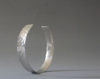 Sterling silver mens bracelet, Mens cuff made to order, Silver hammered bracelet, Mens jewelry
