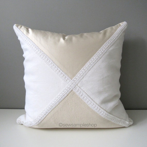 Decorative Cream Pillows : Items similar to SALE Decorative Pillow Cover, White Cream Victorian Throw Pillow Case, Shabby ...