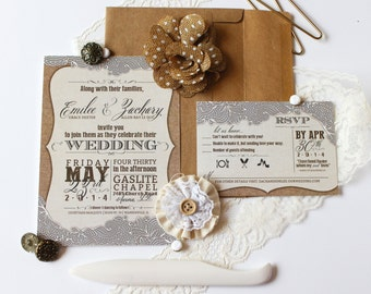 burlap and lace wedding invitation u0026 rsvp diy country chic turquoise charcoal