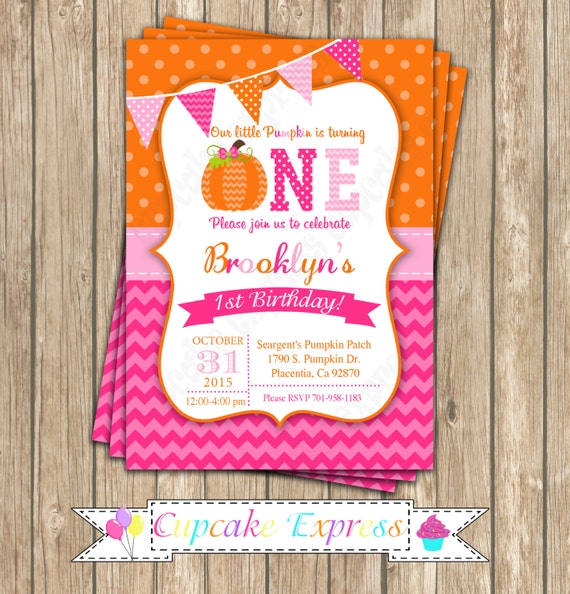 Items Similar To Pumpkin Patch One First Birthday Girl