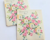 Baby Birth Announcements Lot of 10 Unused Mid Century Fill in the Blank Cards
