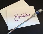Beaded letter opener, wire wrapped letter opener, desk accessory, gifts under 15 dollars, teacher gift, letter opener, office supply