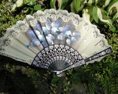 Vintage hand painted fan Gothic Steampunk hot flash photo prop display lady death asian spanish fan