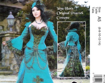 Cosplay Peacock Fishtail Dress Pattern McCalls 7218 (Womens sizes 14-16-18-20-22)