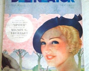Vintage 1930's Magazine May 1934 Delineator Magazine Vintage Original Complete 1930's Fashion History