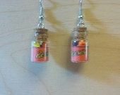Reese Pieces in a Jar Earrings / Necklace