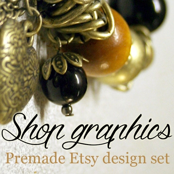 Jewelry banners, Etsy shop set, Beaded Jewelry Theme Banners, Etsy banner, Etsy cover photo