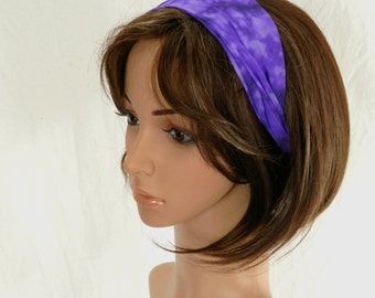 Purple Tie Dye CHiffon Headband  Fashion For Your Hair by Thimbledoodle
