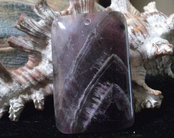 "Genuine Amethyst pendant or focal beads- 40 x 30 mm- ( 1.75"" x 1.25"") gp-763a (1 piece)"