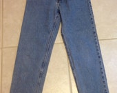 Vintage Faded Blue Jeans Old Navy Straight Leg Ladies Size 8 Long Previously Twelve Dollars ON SALE