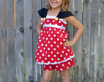 Ready to Ship: Minnie Mouse Charming Outfit - Size 7