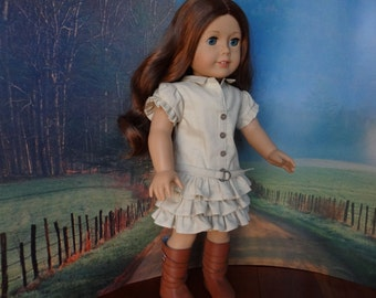 Australian Outback dress for American Girl or similar 18 inch doll