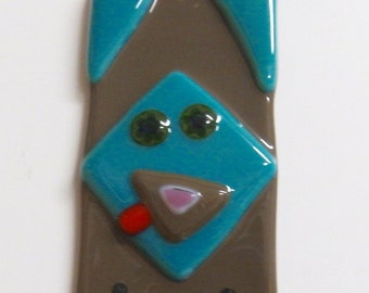 Wacky Dog Fused Glass Ornament