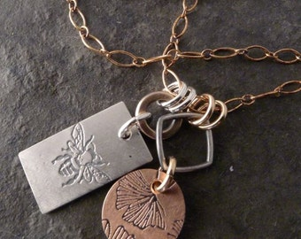 Boho Tag Chain ~ Bee