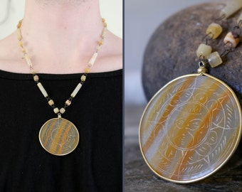 carved agate necklace