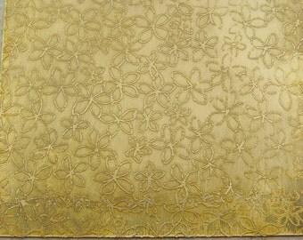 """Etched Brass Sheet--Plumeria, 4 x 3"""", 24g"""