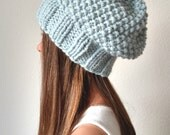 Knit slouchy hat with / without PomPom - The KODIAK - More colors available