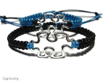 Matching Bracelets, Couples Bracelets, Friendship Bracelets, His Hers Bracelet, Puzzle Bracelets, Couples Jewelry, Anniversary Gift