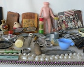 vintage assemblage supplies, junk drawer destash, grab bag, smalls, from Diz Has Neat Stuff