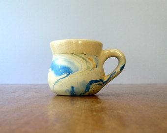 Small Vintage Nemadji Vase - Red Orange Glaze