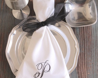 monogrammed cloth napkins wedding embroidered cloth dinner