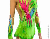 Leotard #169: Rhythmic Gymnastics Leotard, Ice Figure Skating Dress, Acrobatic Gymnastics Costume, Jumpsuit or Dance Dress