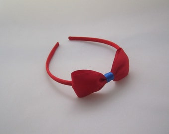 RedHeadband with Bow - Snow White Costume Accessory