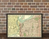 Map of Kansas City - Fine art reproduction - Kansas City map